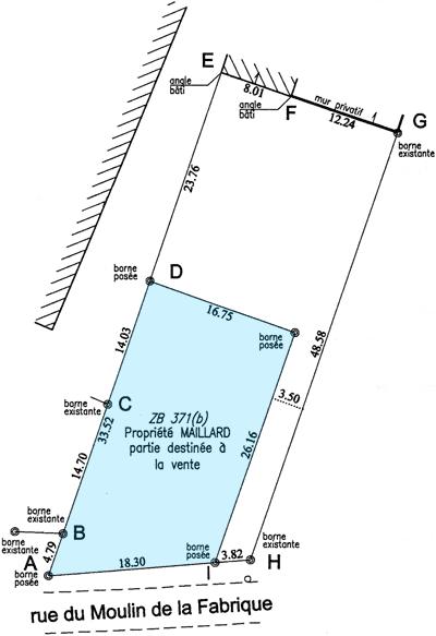 Plan de bornage terrain - Prix bornage terrain ...